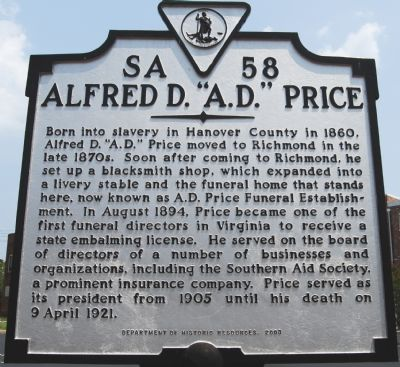 "Alfred D. ""A.D."" Price Marker image. Click for full size."