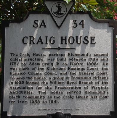 Craig House Marker image. Click for full size.