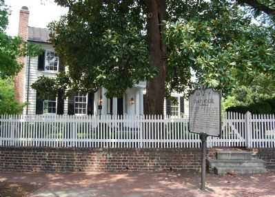 Marker in front of house image. Click for full size.