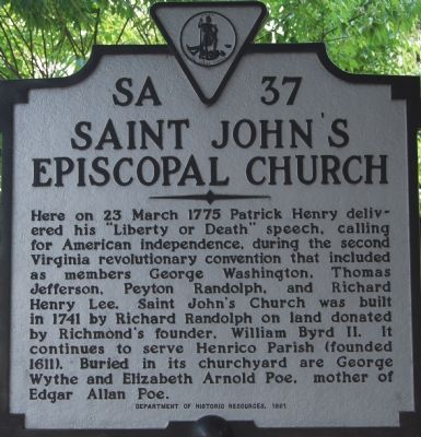 Saint John�s Episcopal Church Marker Photo, Click for full size