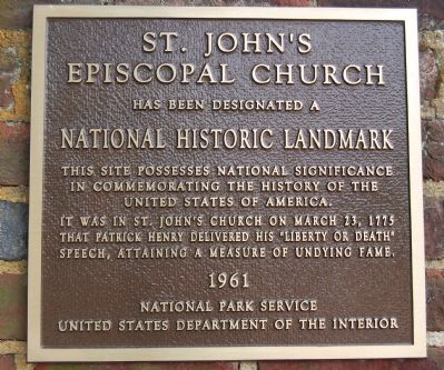 National Historic Landmark plaque Photo, Click for full size