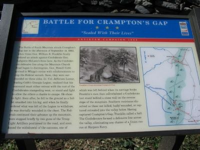 Battle for Crampton's Gap Marker image. Click for full size.