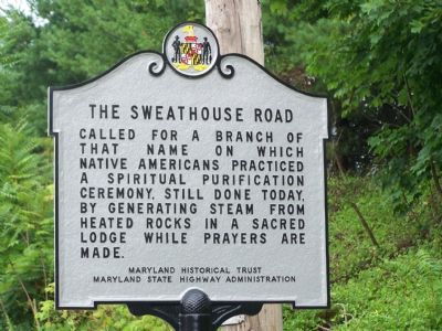The Sweathouse Road Marker image. Click for full size.
