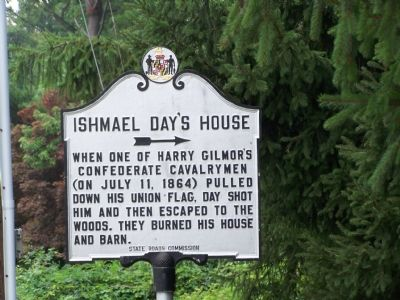 Ishmael Day's House Marker Photo, Click for full size