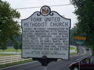 Fork United Methodist Church Marker image. Click for full size.