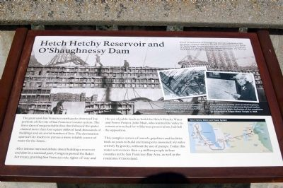 Hetch Hetchy Reservoir and O'Shaughnessy Dam image. Click for full size.