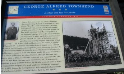 George Alfred Townsend Marker Photo, Click for full size