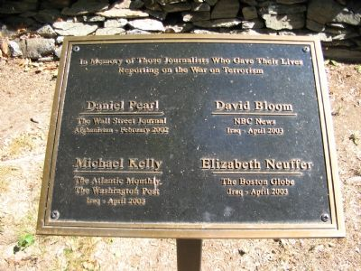 Recently Added Plaque in Memory to Journalists Lost in the War on Terror Photo, Click for full size