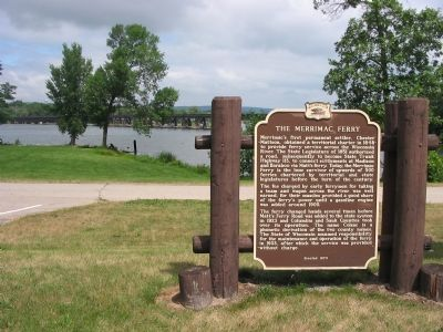 The Merrimac Ferry Marker image. Click for full size.