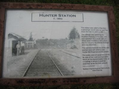 Hunter Station c. 1900 Marker Photo, Click for full size