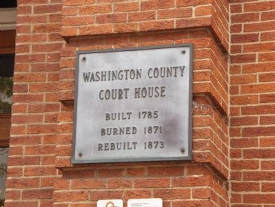 Chronology of the Washington County Court House image. Click for full size.