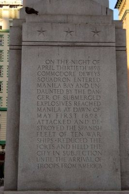 Dewey Monument Marker, Panel 1 Photo, Click for full size