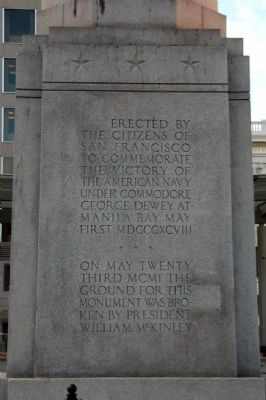Dewey Monument Marker, Panel 2 Photo, Click for full size