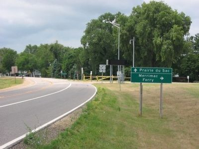 Merrimac Ferry Sign image. Click for full size.