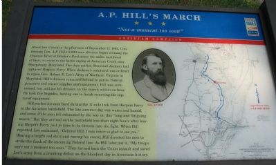 A.P. Hill's March Marker Photo, Click for full size