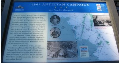 1862 Antietam Camapign - Lee Invades Maryland Marker image. Click for full size.