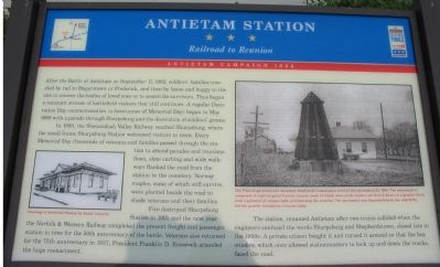 Antietam Station Marker Photo, Click for full size