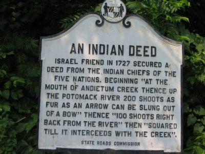 An Indian Deed Marker image. Click for full size.