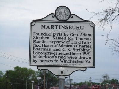 Martinsburg Marker image. Click for full size.