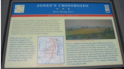 Jones's Crossroads Marker image. Click for full size.