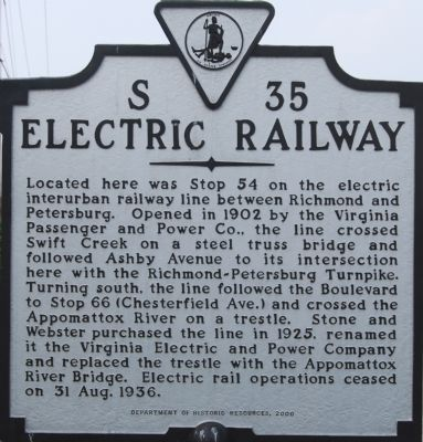 Electric Railway Marker image. Click for full size.