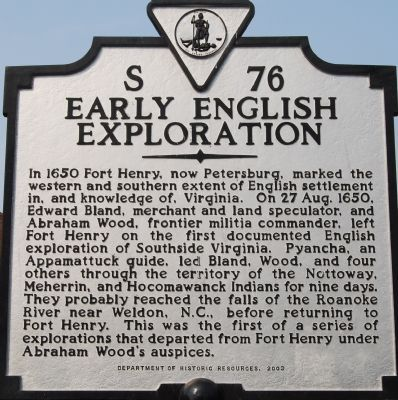 Early English Exploration Marker image. Click for full size.