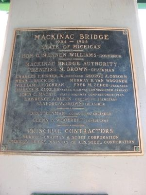 Mackinac Bridge Marker Photo, Click for full size