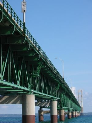 Mackinac Bridge Photo, Click for full size