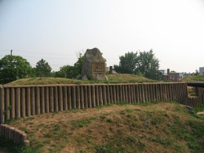 Marker on the Parapet of Fort Stevens Photo, Click for full size