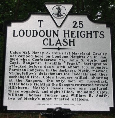 Loudoun Heights Clash Marker Photo, Click for full size
