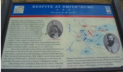Respite at Smithsburg Marker image. Click for full size.