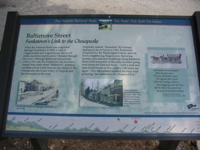 Baltimore Street Marker image. Click for full size.