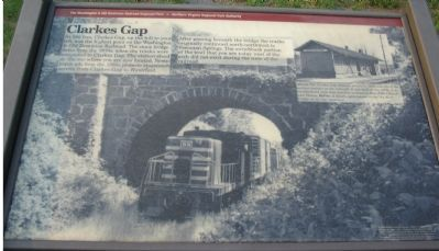 Clarkes Gap Marker Photo, Click for full size
