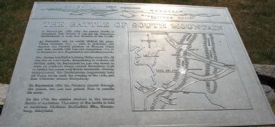 The Battle of South Mountain Marker image. Click for full size.