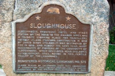 Sloughhouse Marker image. Click for full size.