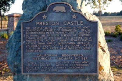 Preston Castle Marker image. Click for full size.