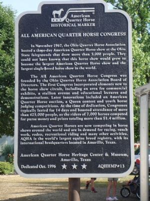All American Quarter Horse Congress Marker image. Click for full size.