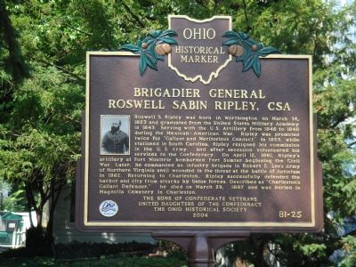 Brigadier General Roswell Sabin Ripley, CSA Marker Photo, Click for full size