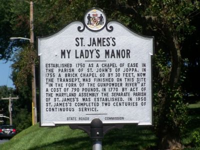St. James's My Lady's Manor Marker Photo, Click for full size