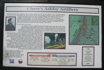 Chew's Ashby Artillery Marker Photo, Click for full size