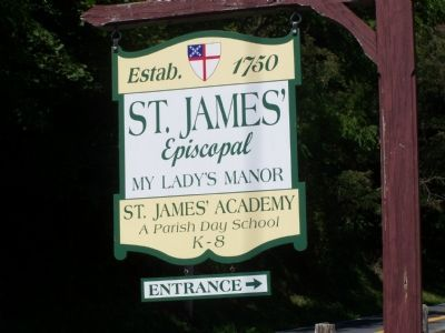 St. James's Church Sign Photo, Click for full size