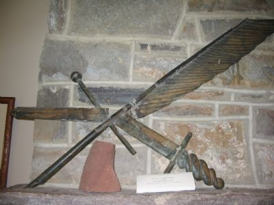"""Pen is Mighter than the Sword"" Weather Vane Photo, Click for full size"
