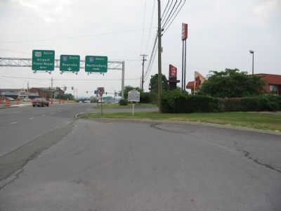 "Winchester ""Entry"" Marker at the US 17/50 Overpass of I-81. image. Click for full size."