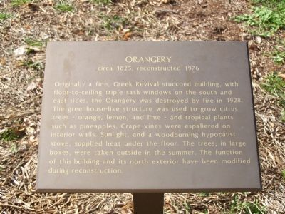 Orangery Interpretive Marker image. Click for full size.