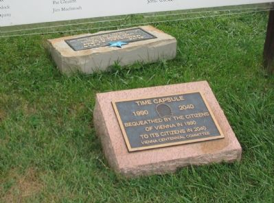 Blue Star and Time Capsule Plaques Photo, Click for full size