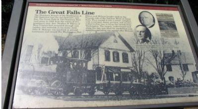 The Great Falls Line Marker Photo, Click for full size