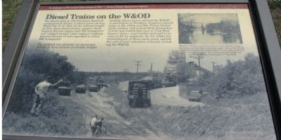 Diesel Trains on the W&OD Marker Photo, Click for full size
