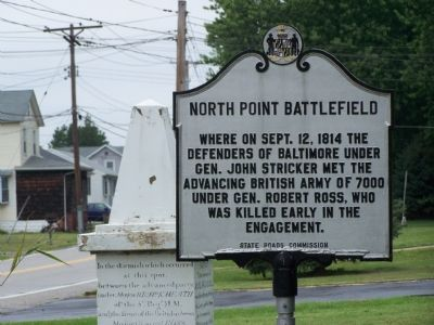 North Point Battlefield Marker image. Click for full size.