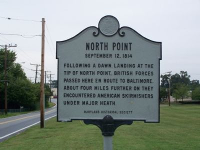North Point September 12, 1814 Marker image. Click for full size.