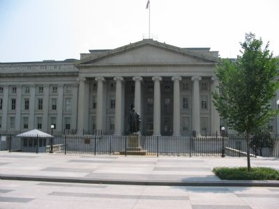 North Side of US Treasury image. Click for full size.